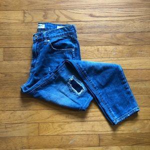 Bullhead distressed patch boyfriend jeans